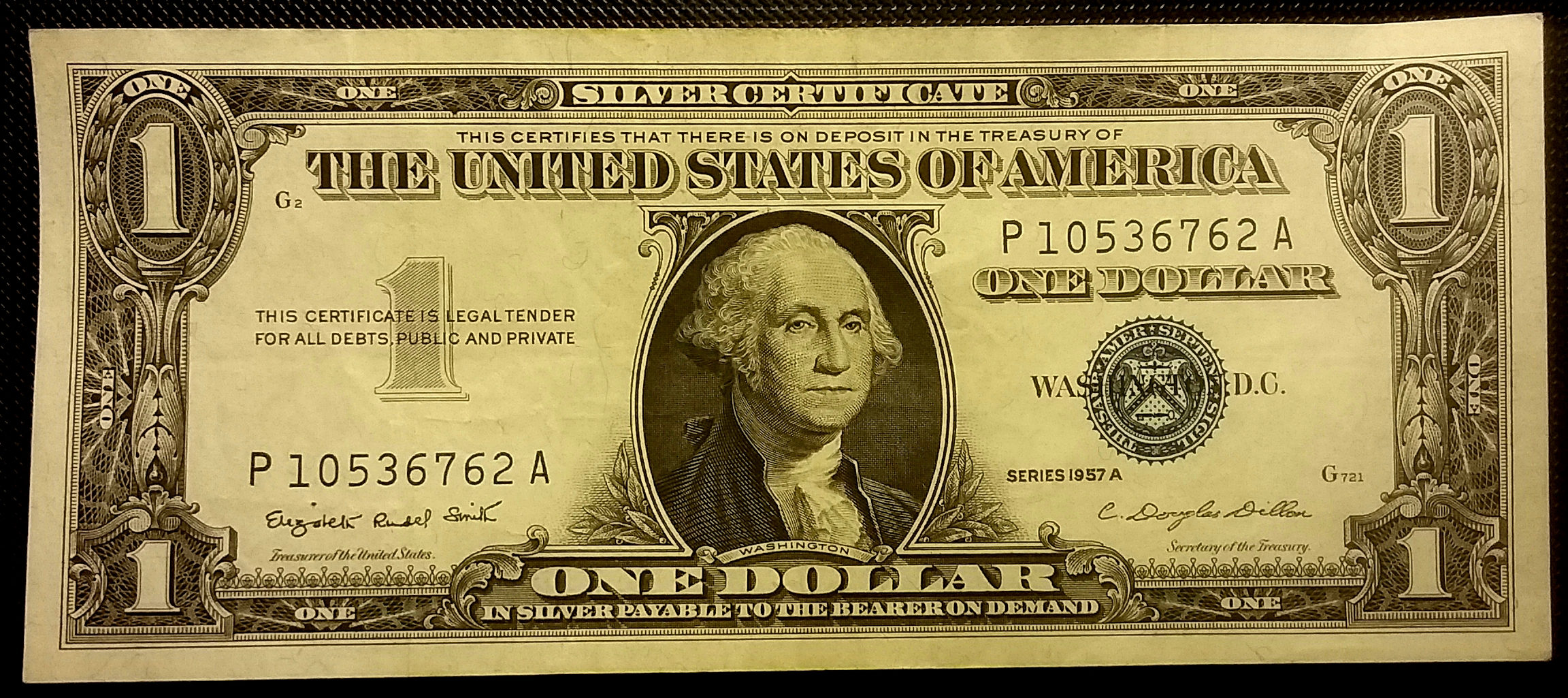 Vintage 1957a Higher Grade Silver Certificate One Dollar Bill Etsy