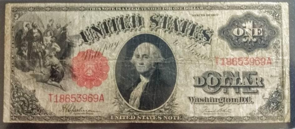 Series of 1953//1963 Five Dollar Bill $5 *Red Seal* United States Currency VG-VF