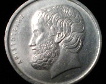 Antique Vintage 1976 5 five Apaxmai Coin From Greece  great greek Old Piece