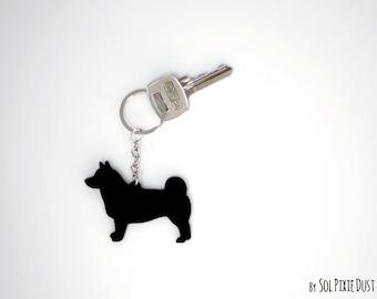I Love My Schipperke Engraved Keychain GI Tag dog  Many Colors