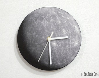 Planet Mercury - Wall Clock