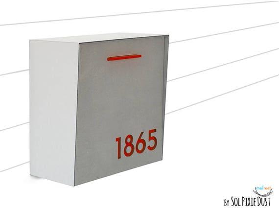 bo te aux lettres moderne avec le visage de b ton bross etsy. Black Bedroom Furniture Sets. Home Design Ideas