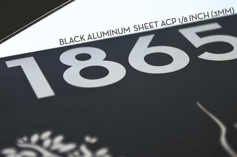 Modern Wall Decor New Home Gift Black Aluminum Modern Projecting Sign ACP Modern Font Address Sign and Fiber Laser Engraving