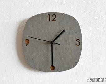 Concrete and Wood Wall Clock - Modern Wall Clock - Home Decor - Minimalist Wall Art - Housewarming Gift Idea - Anniversary Wedding Gift