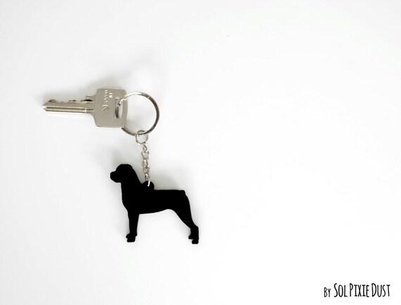 Rottweiler Keychain Silhouette  ad72cc054