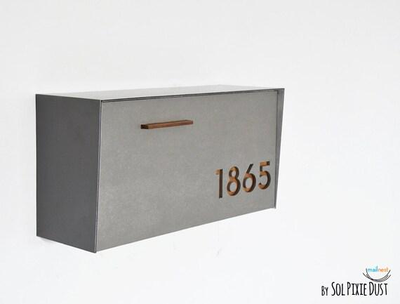 bo te aux lettres moderne avec b ton visage corps en. Black Bedroom Furniture Sets. Home Design Ideas
