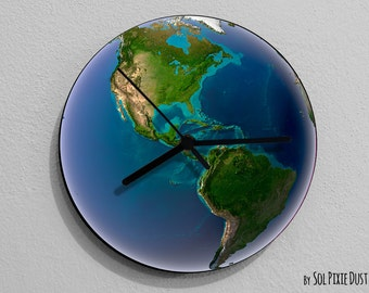 Earth USA - Planet Wall Clock
