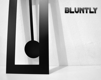 Bluntly Modern Design - Modern Grandfather Pendulum - Wall Clock / Table Clock