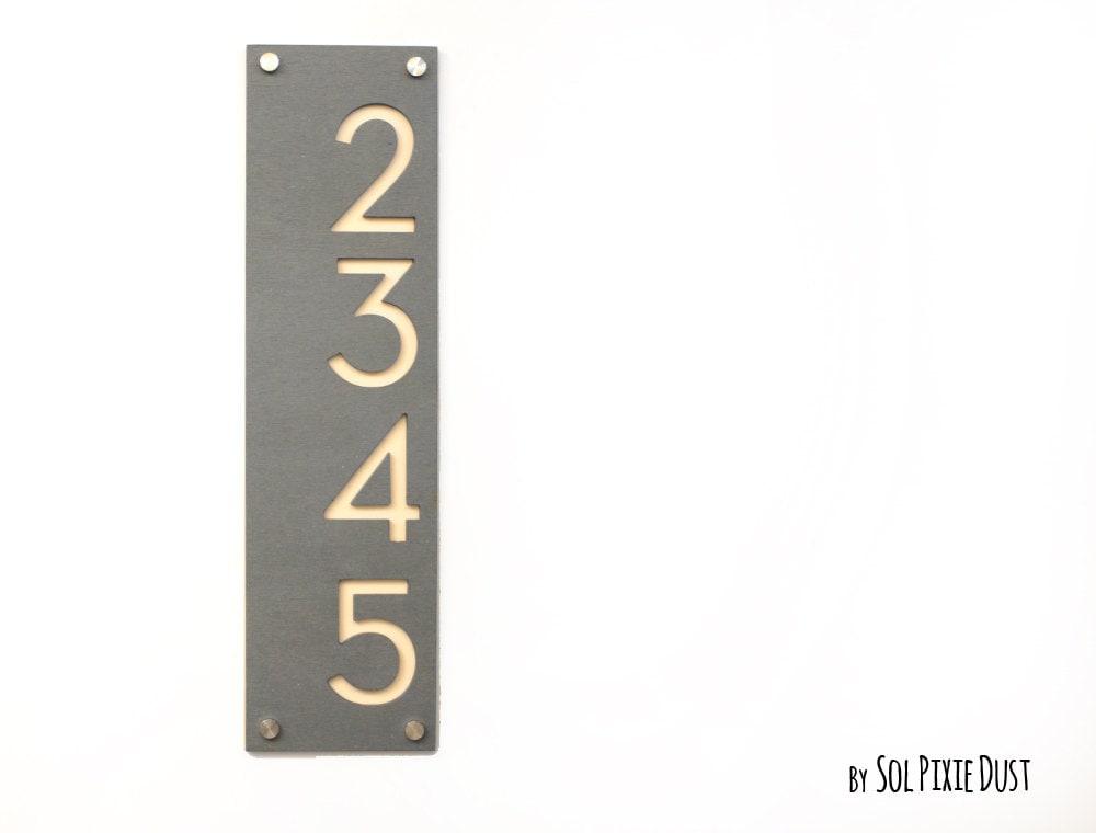num ros de maison moderne le b ton avec de lacrylique beige etsy. Black Bedroom Furniture Sets. Home Design Ideas