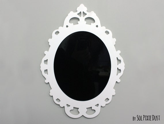 Modern Rococo White Photo Frame Oval Baroque Picture Frame Etsy