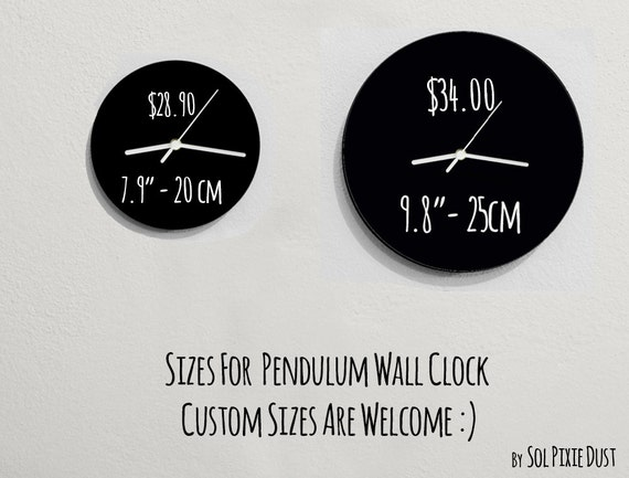 Pendulum Wall Clock Peter Pan Swinging on the Moon