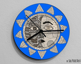 Sun and Moon Kiss-Moon Wall Clock