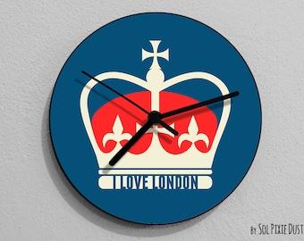 I Love London Queen Wall Clock