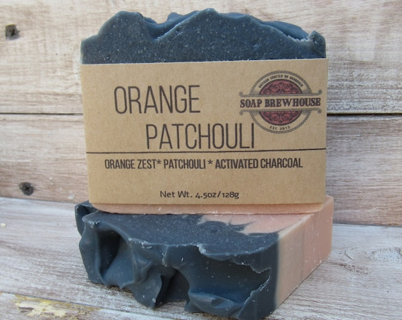 Orange Patchouli Beer Soap/Beer Lover Soap Gift/Activated Charcoal Soap/Hippie Beer Soap