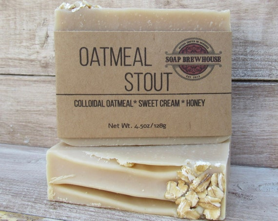 Oatmeal Milk Stout Beer Soap/ Oatmeal beer Soap/ Vanilla Milk beer Soap/Unisex Beer Soap