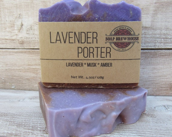 Lavender Porter Beer Soap/ Beer Lover Soap/Musk with Lavender Scent Soap/Lavender/Natural/Relaxing