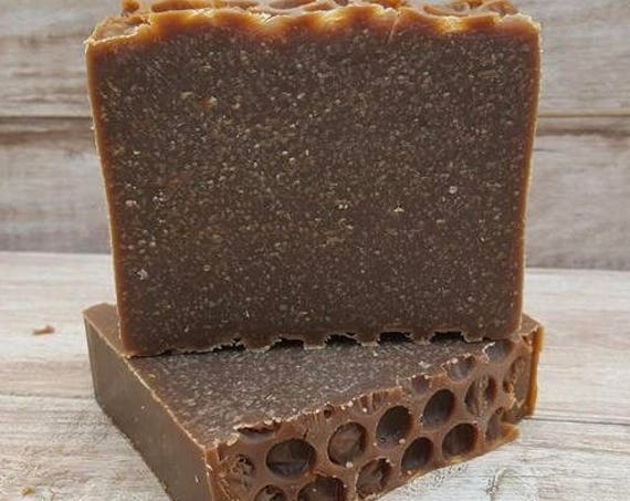 Honeycomb Bier Beer Soap/Beer Lover Soap Gift/ Honey and Vanilla Beer Soap/Unisex/Natural Soap