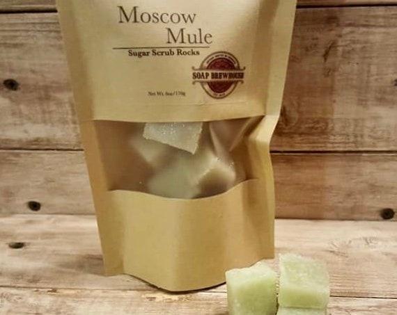 Moscow Mule Sugar Scrub Rocks/Shea Butter Sugar Scrub/Spa Gift Sugar Scrub/Moisturizing Body Scrub
