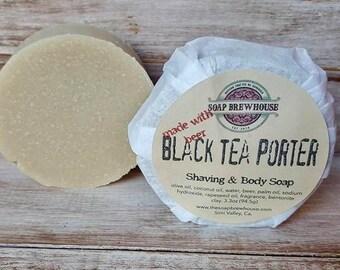 Black Tea Porter/ Beer Soap/ Shaving & Body Soap/Shaving Puck