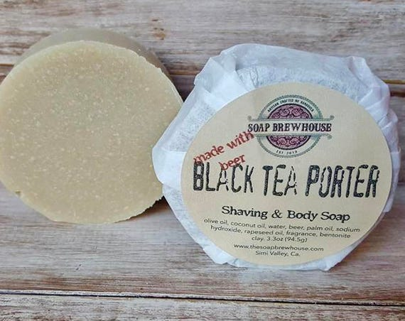 Black Tea Porter Soap/ Beer Soap/ Shaving & Body Soap/Shaving Puck Soap/Beer Lover
