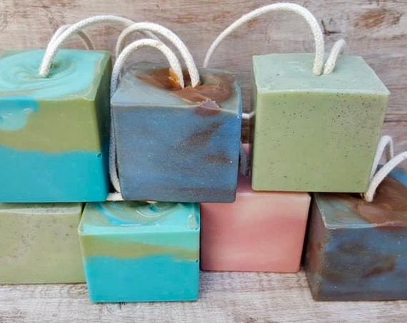 Soap on a Rope Set/2 Pack Soap on a Rope/Soap Gift/Birthday Favors/ Shower Gift Soap