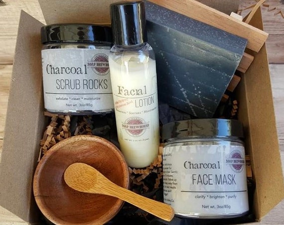 Detox Spa Gift Set/Activated Charcoal Spa Gift Set/Ladies Spa Gift Set/Birthday Gift Set