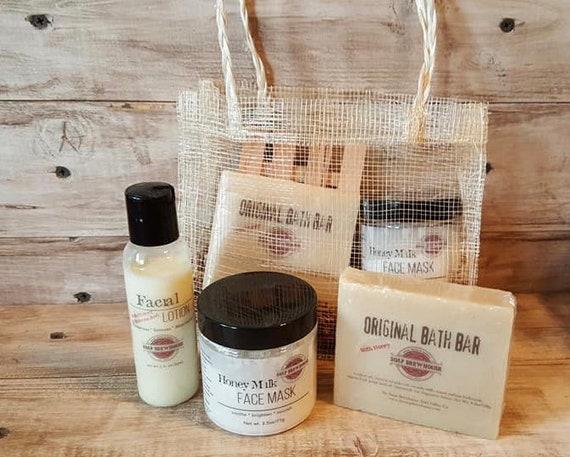 Honey Milk Spa Gift Set/Bridal Spa Gift Set/Birthday Gift Set/Bridesmaid Gift Set/Spa Gift Set For Her