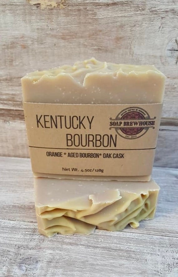 Kentucky Bourbon Beer Soap/Cocktail Lover Beer Soap Gift/Bergamot and Oak Cask Beer Soap