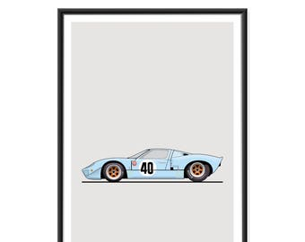 Ford Gt Gulf Poster