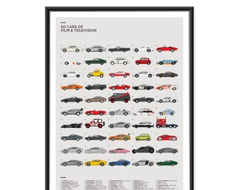 50 Cars of Film & TV Poster