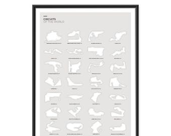 Circuits of the World Poster