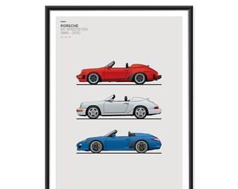 Porsche 911 Speedster Generations Poster