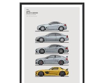 Mercedes AMG Black Series Generations Poster