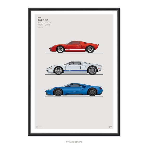 Ford Gt Generations Poster