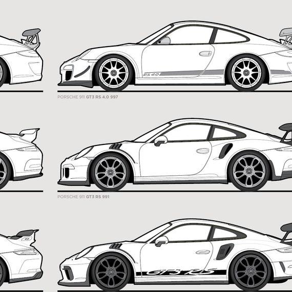 Porsche 911 Gt3 Evolution Poster Etsy