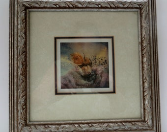 Picture of Flower Matted and Franed Ready to Hang Wall Decor