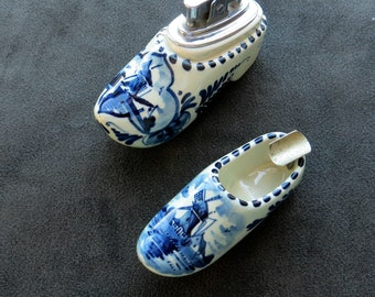 Dutch Shoe Ashtray and Lighter Holland