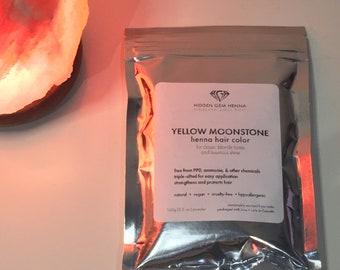 YELLOW MOONSTONE Herbal Blonde Henna Powder Hair Dye 100g