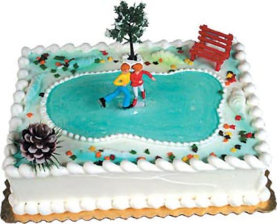 Ice Skating Cake Decorating Kit Decoration Topper Birthday