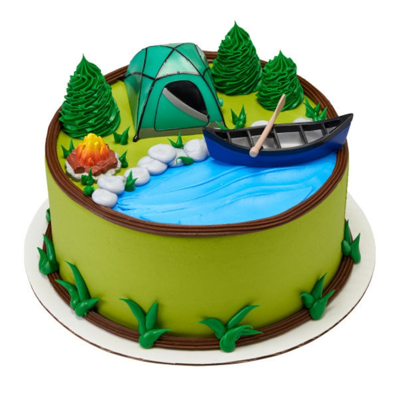 Fireside Camping Cake Decorating Kit Topper Decoration Party