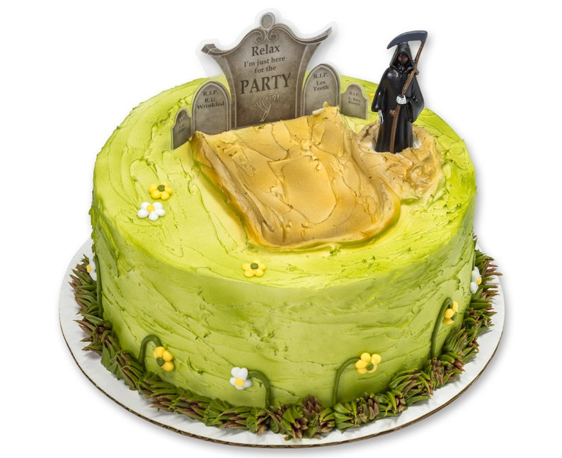 Grim Reaper Over The Hill Cake Decorating Kit Topper