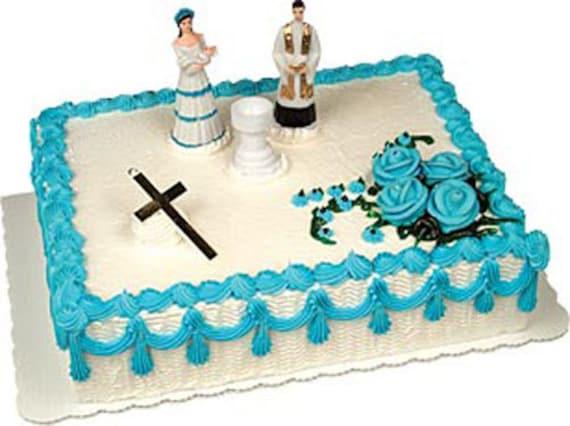 Baby Boy Christening Cake Decorating Kit Decoration Topper Etsy