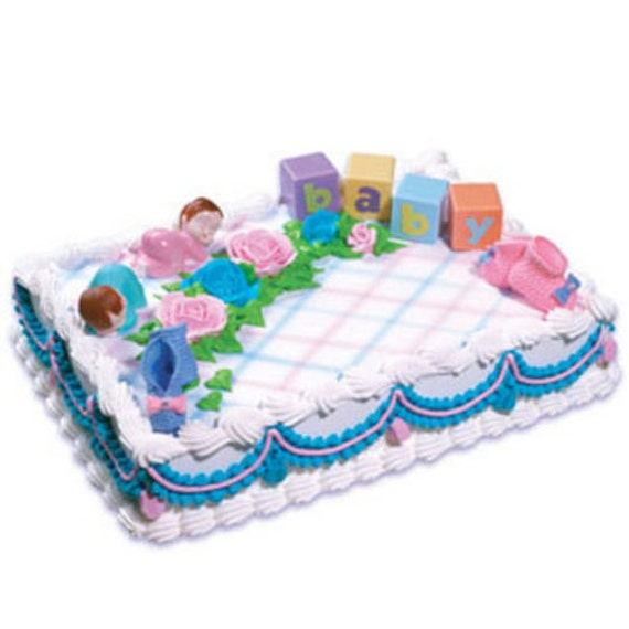 Twins 2 Baby Shower Cake Decorating Kit Party Supplies Topper
