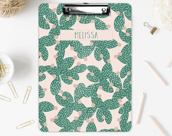Personalized Cacti themed Clipboard for teacher or coach, Office Stationery, Personalized, Cacti, Clipboard