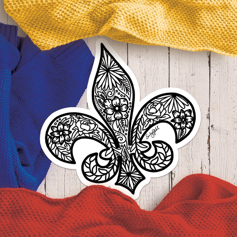 Custom Hand Drawn Sticker; Custom Sticker; Custom Art; Hand Lettered; Hand Drawn 2.75 x 3 in; Missouri Floral Sticker Sticker