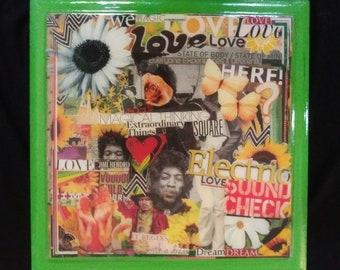 Mostly Jimi Hendrix Collage Box
