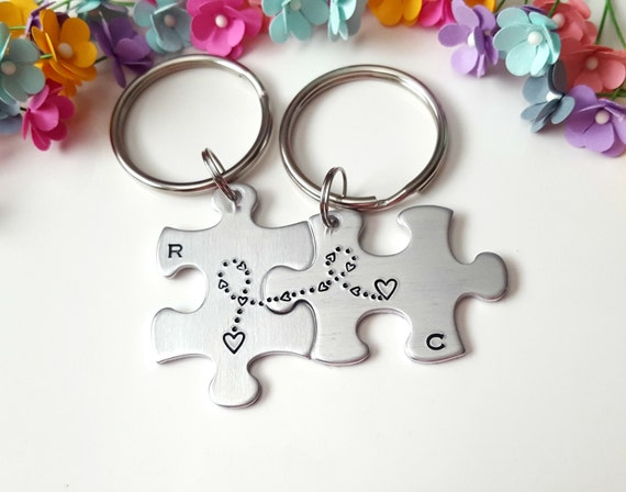 Puzzle Piece KeychainsAnniversary Gifts for Him Boyfriend  91ecd218ad