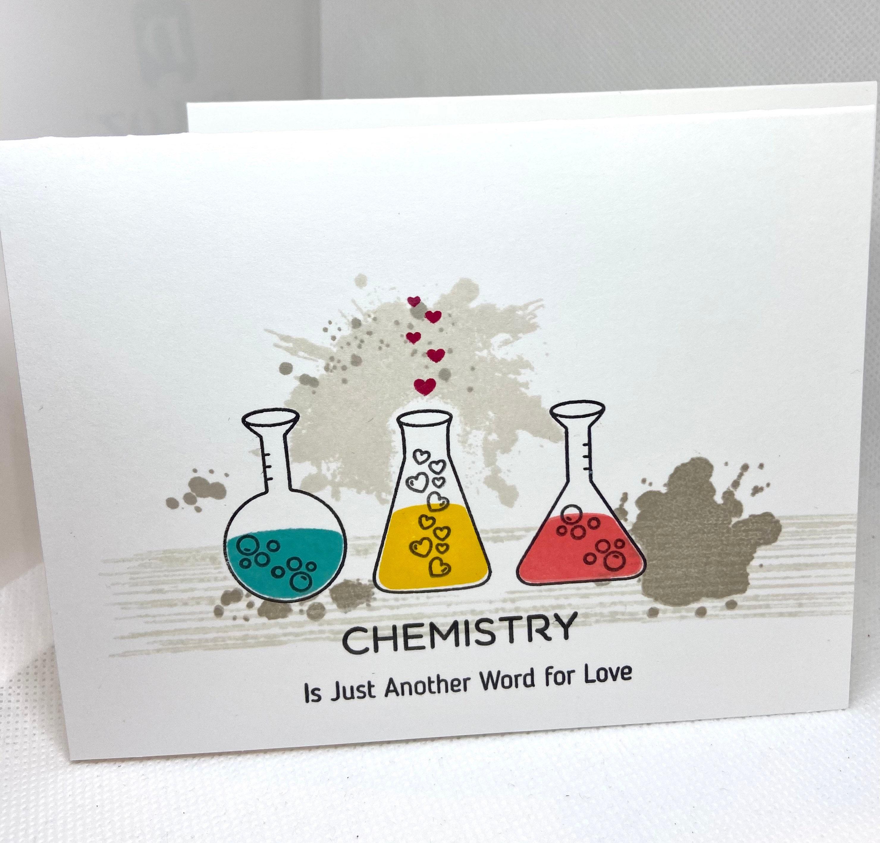 Geeky Card New Boyfriend card Chemistry Card Nerdy Love | Etsy
