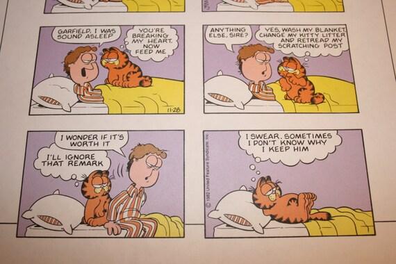 Best Friends Garfield Comic Strip Nap Bedtime The Cat Etsy