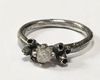 Forest Treasures Rough Diamond Ring Engagement